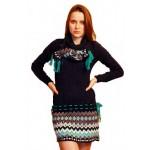 Женское вязаное платье 7066