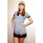 Женское вязаное платье 7213