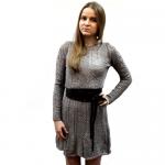 Женское вязаное платье 7409