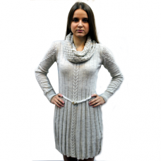 Женское вязаное платье 7604 оптом